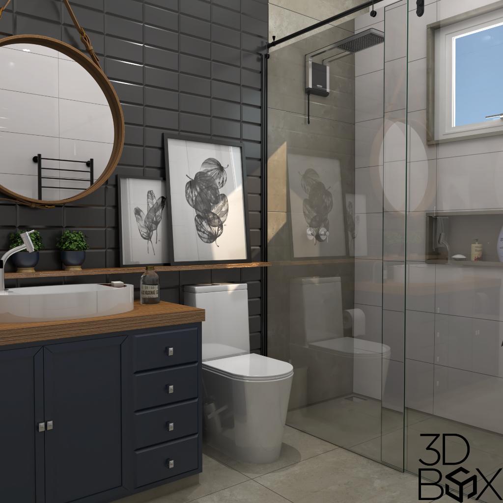 banheiro - V-Ray e Photoshop Para Pós-Produção