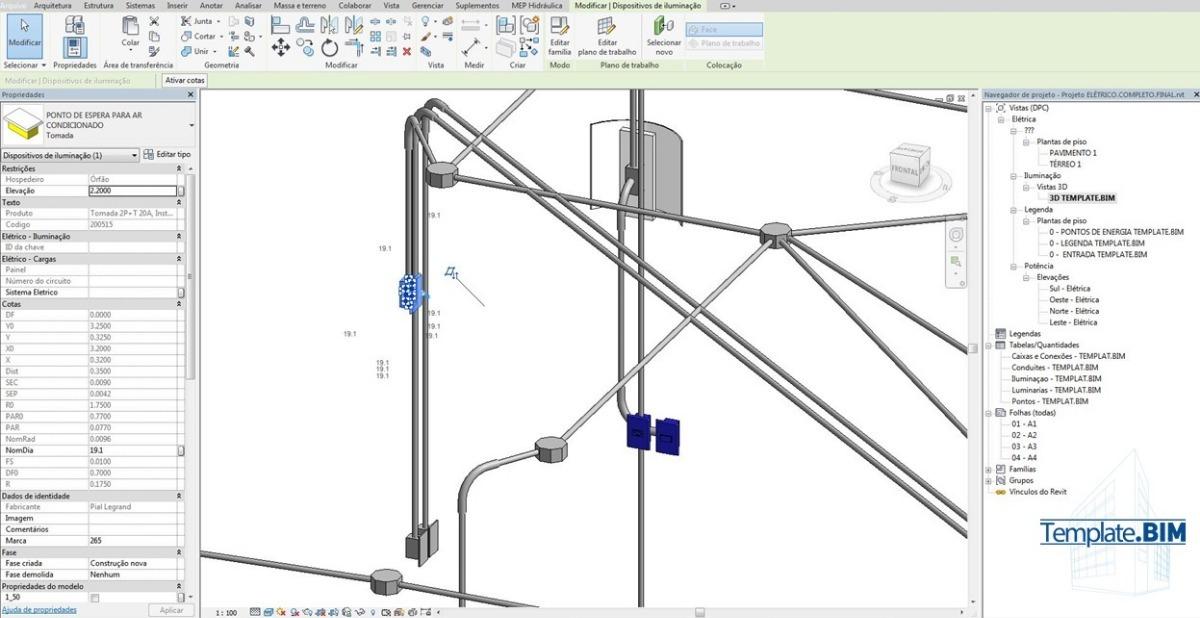 template revit eletrico projeto bim bnus familia D NQ NP 831931 MLB28711904832 112018 F - Revit Para Projeto Elétrico